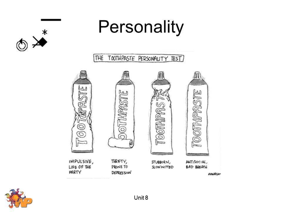 Unit 8 Personality