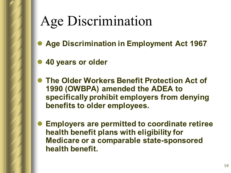 15 How does discrimination occur.