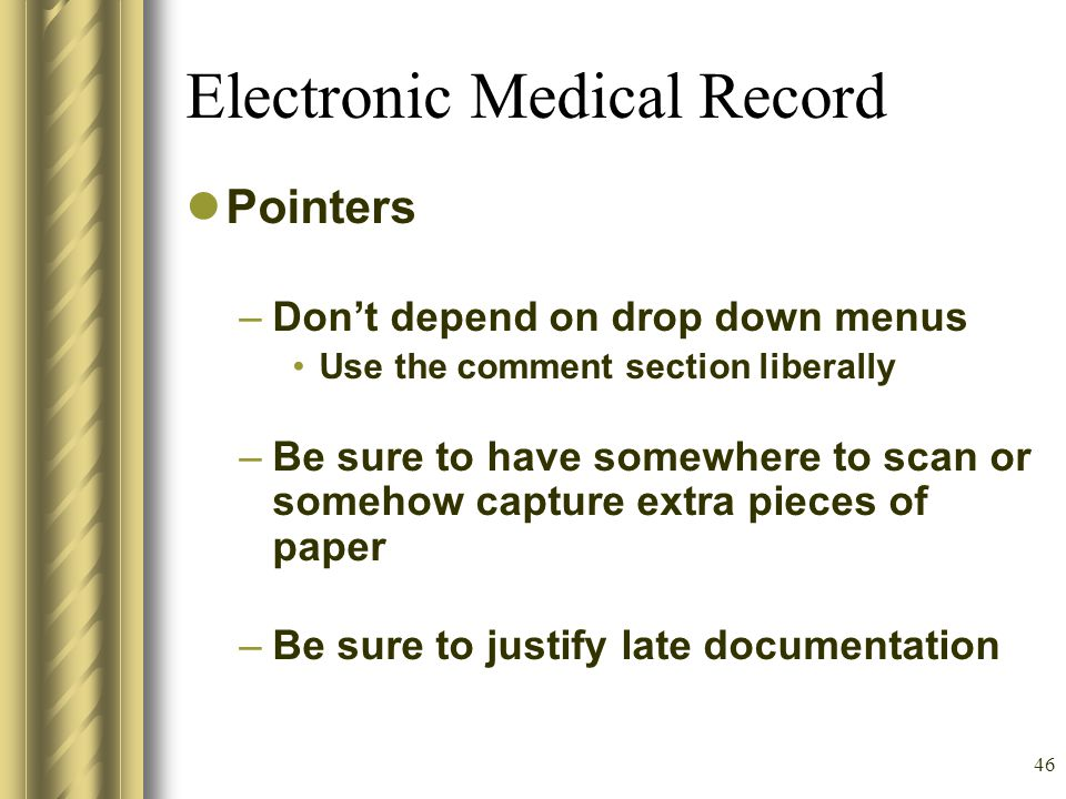 45 Example of a Poor Medical Record