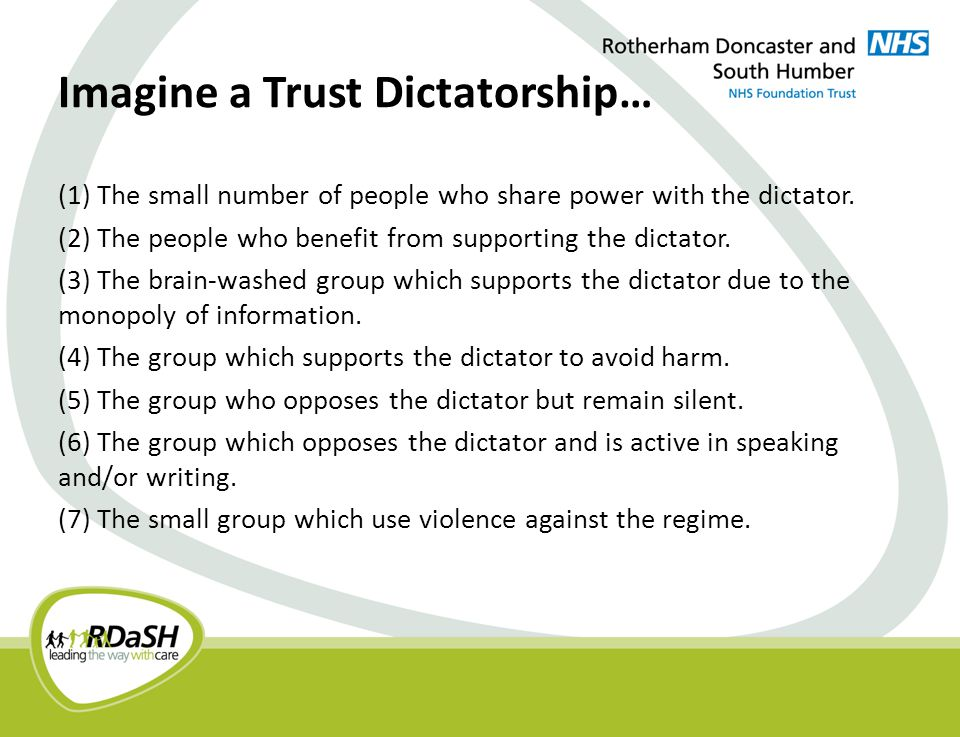 An Ideal Trust Democracy.