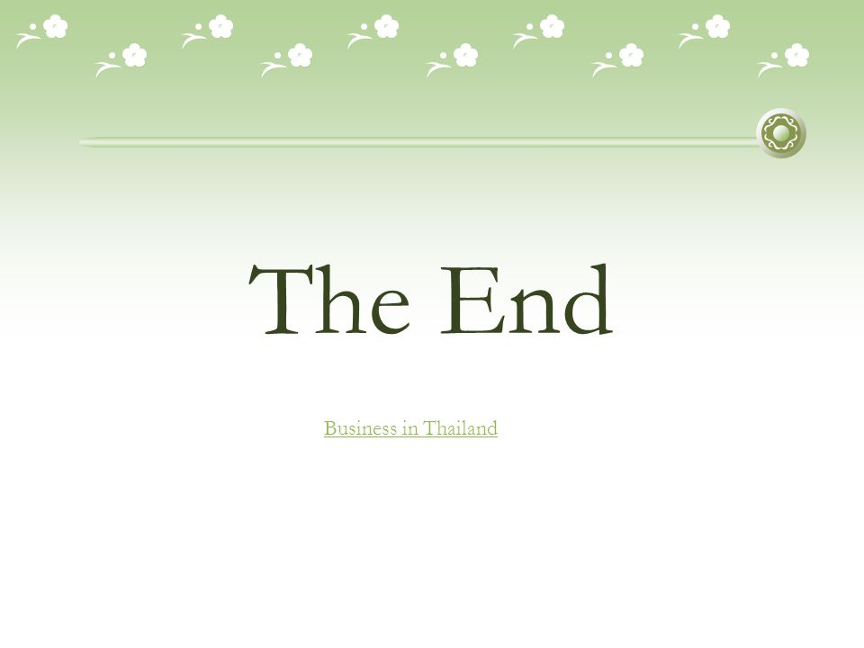 The End Business in Thailand