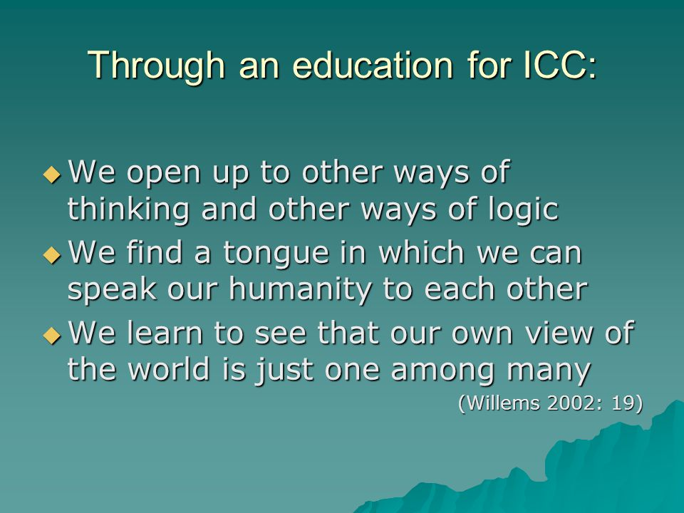 What is the specific aim of ICC as a pluralistic approach?