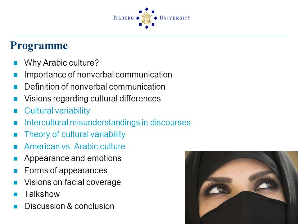 Programme Why Arabic culture.