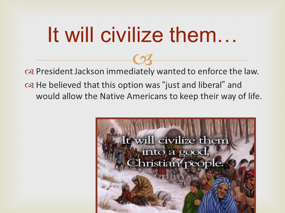   President Jackson immediately wanted to enforce the law.