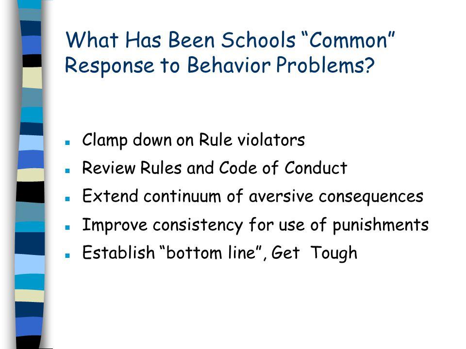 What Has Been Schools Common Response to Behavior Problems.