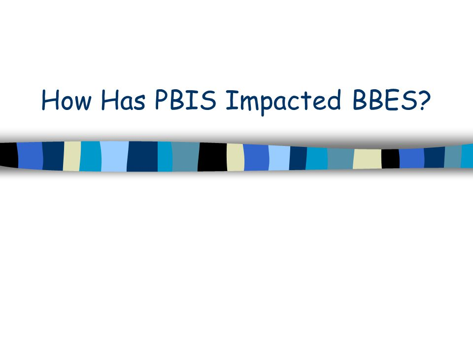 How Has PBIS Impacted BBES