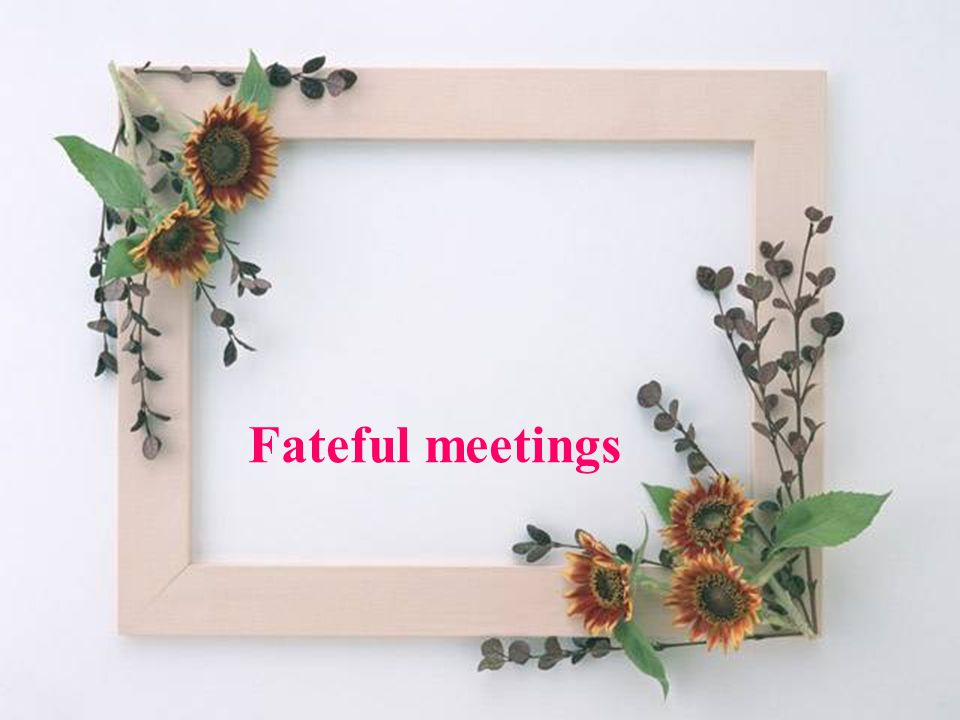 Fateful meetings