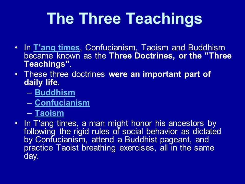 Focus: What were the Three Doctrines of Ancient China