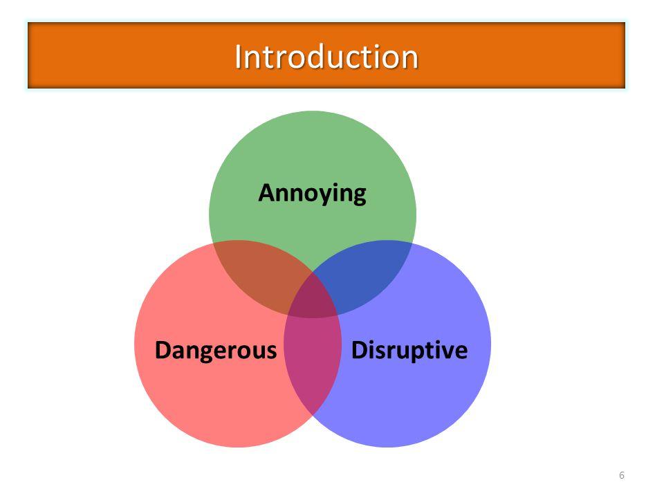 6 Annoying DisruptiveDangerousIntroduction