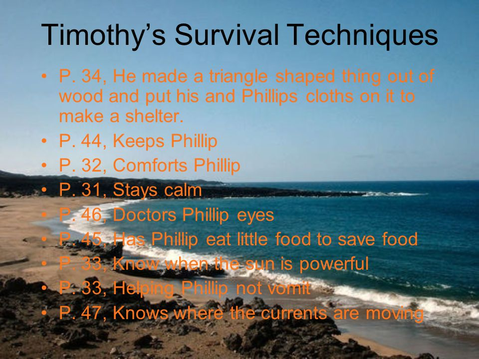Timothy's Survival Techniques P.
