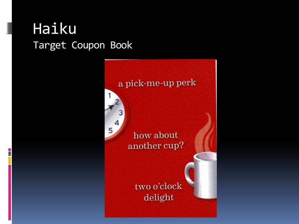 Haiku Target Coupon Book