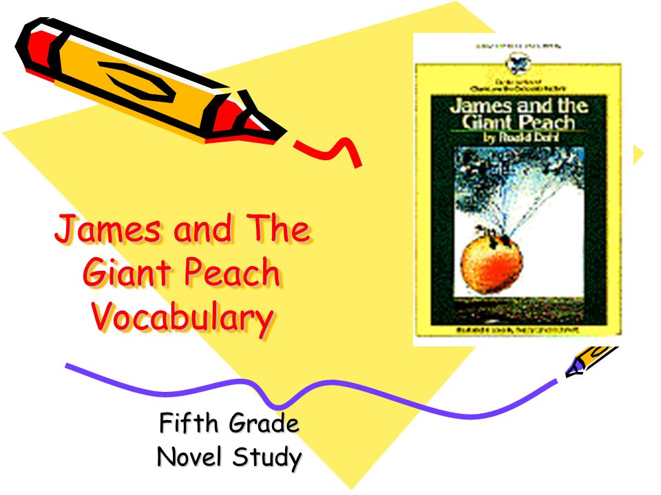 James and The Giant Peach Vocabulary Fifth Grade Novel Study