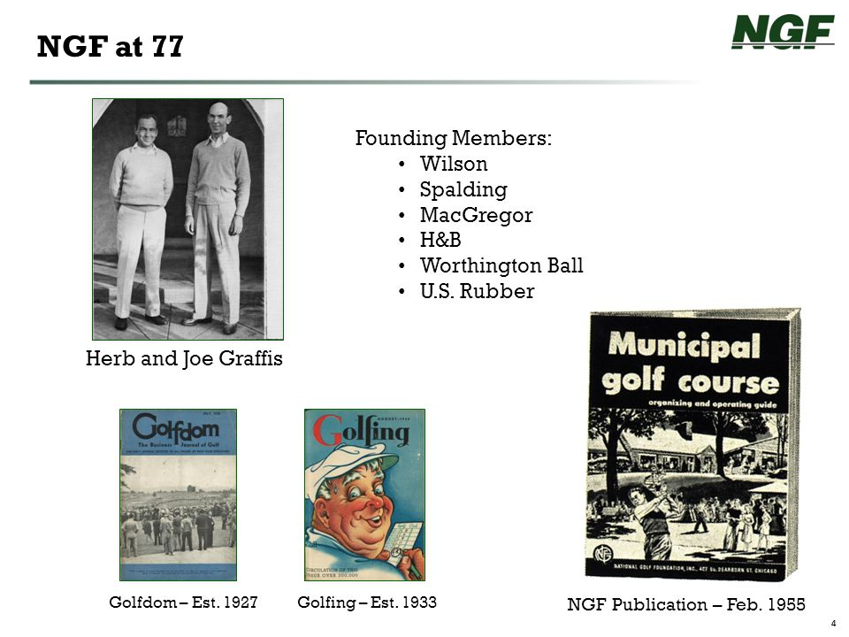 4 NGF at 77 Herb and Joe Graffis Golfdom – Est.1927Golfing – Est.