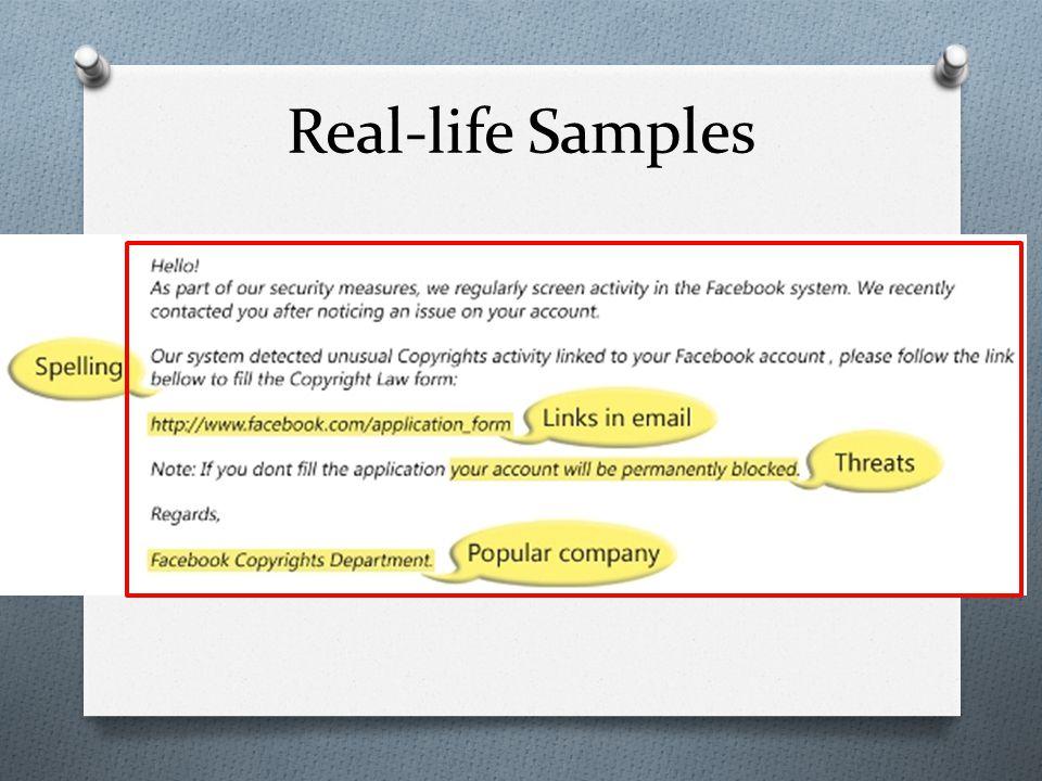 Real-life Samples