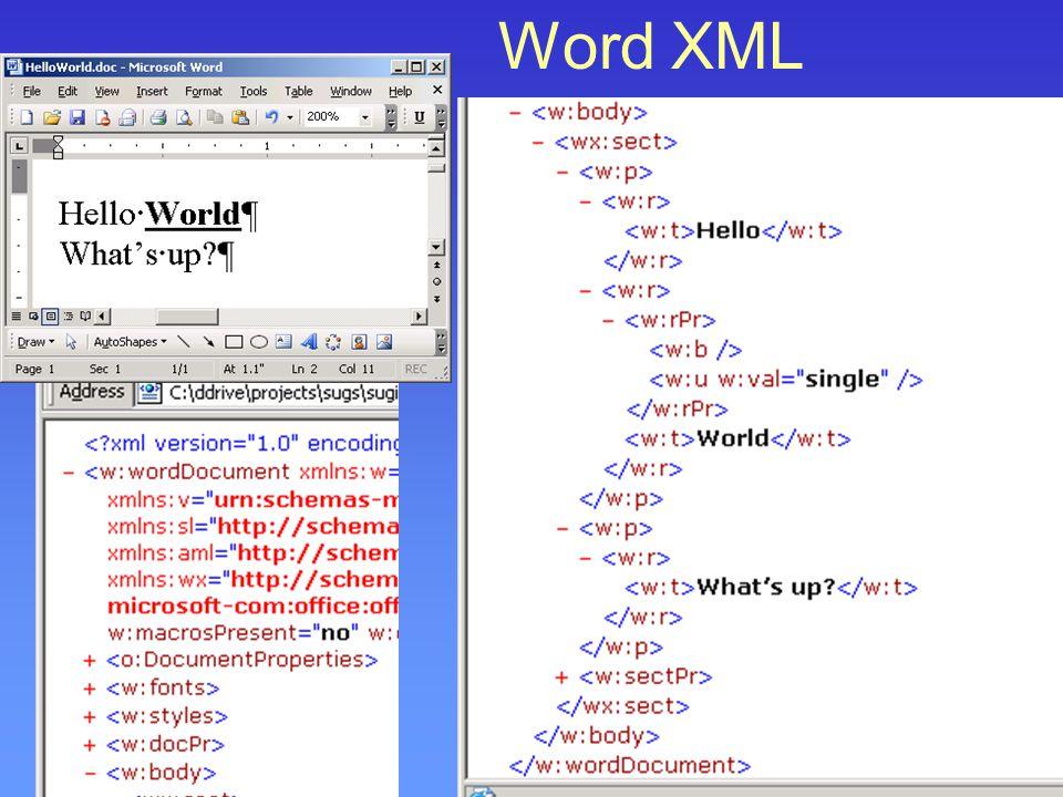 Word XML