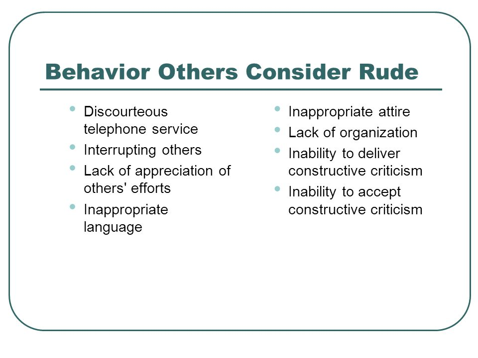 Behavior Others Consider Polite Helpfulness Respect Attentiveness Friendliness Honesty