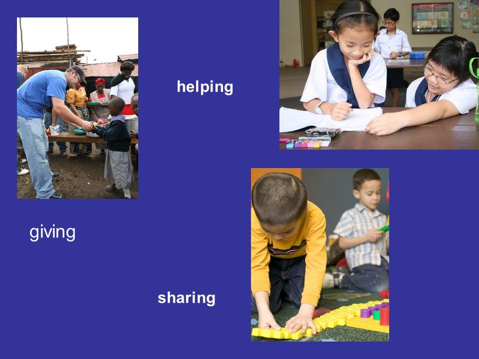 giving helping sharing