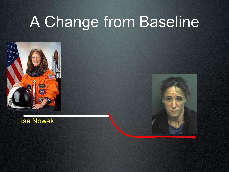 A Change from Baseline Lisa Nowak