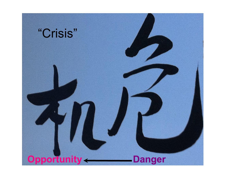 """Danger """"Crisis"""" Opportunity"""
