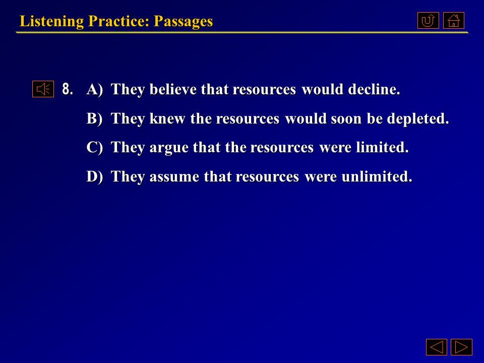 Listening Practice: Passages Questions 《听说教程 IV 》 Part 4.3, pp.23-24 Passage 3