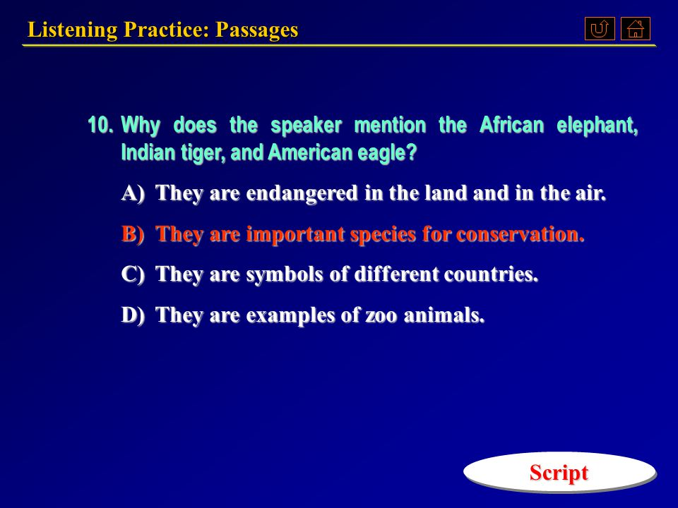 9.What did the speaker believe is the main reason for maintaining sea resources.