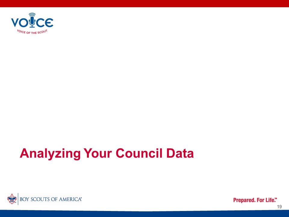 Analyzing Your Council Data 19