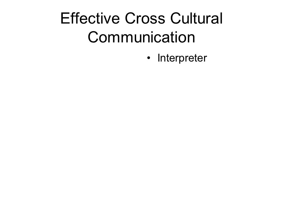 Effective Cross Cultural Communication Interpreter