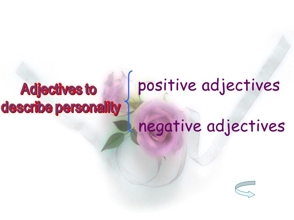 positive adjectives negative adjectives