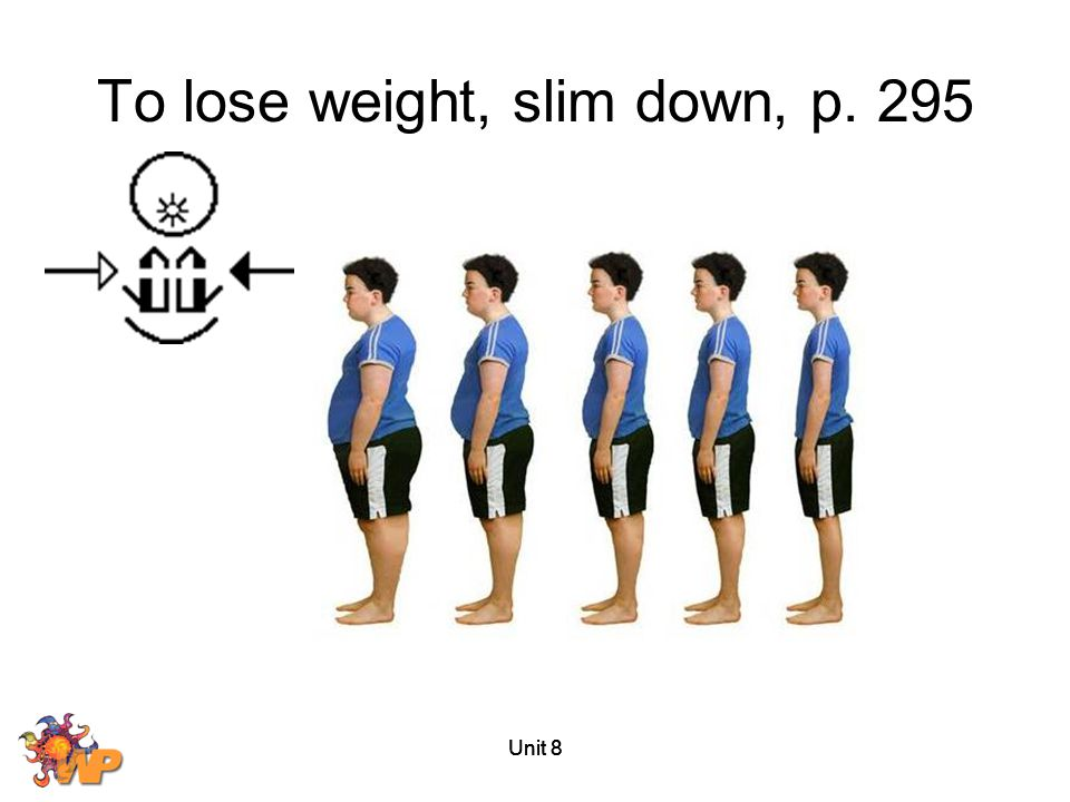 Unit 8 To lose weight, slim down, p. 295