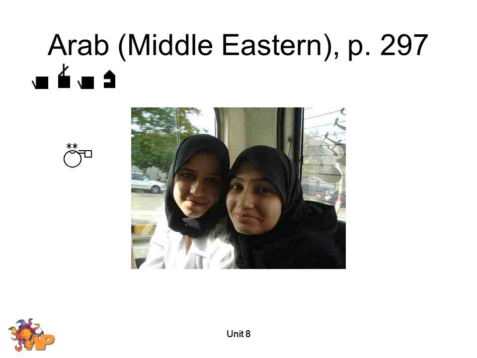 Unit 8 Arab (Middle Eastern), p. 297