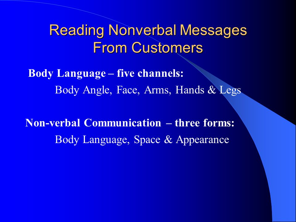 Communicating Via Technology Simple guidelines – E-mail Face to face is much more effective, if possible – 90% of buyers prefer it Make subject line correct/make first lines clear Do NOT keep using old reply line Use heading/bullets for long e-mails-short works Answer e-mails within 24 hours Learn to acknowledge e-mails quickly Learn customers' preferences See 10 easy rules to follow – P.