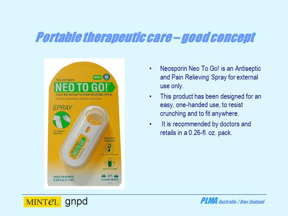 PLMA Australia / New Zealand Portable therapeutic care – good concept Neosporin Neo To Go.