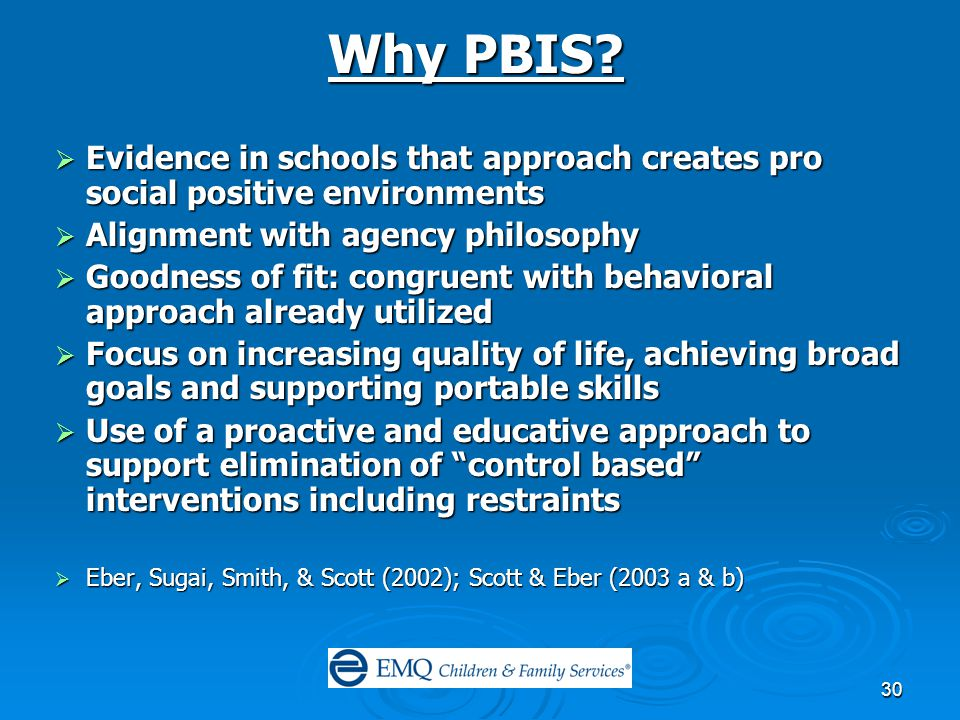 30 Why PBIS.