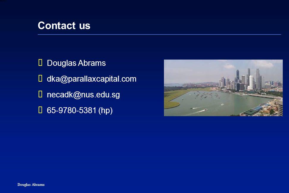 46 6XXXX Douglas Abrams Contact us  Douglas Abrams  dka@parallaxcapital.com  necadk@nus.edu.sg  65-9780-5381 (hp)