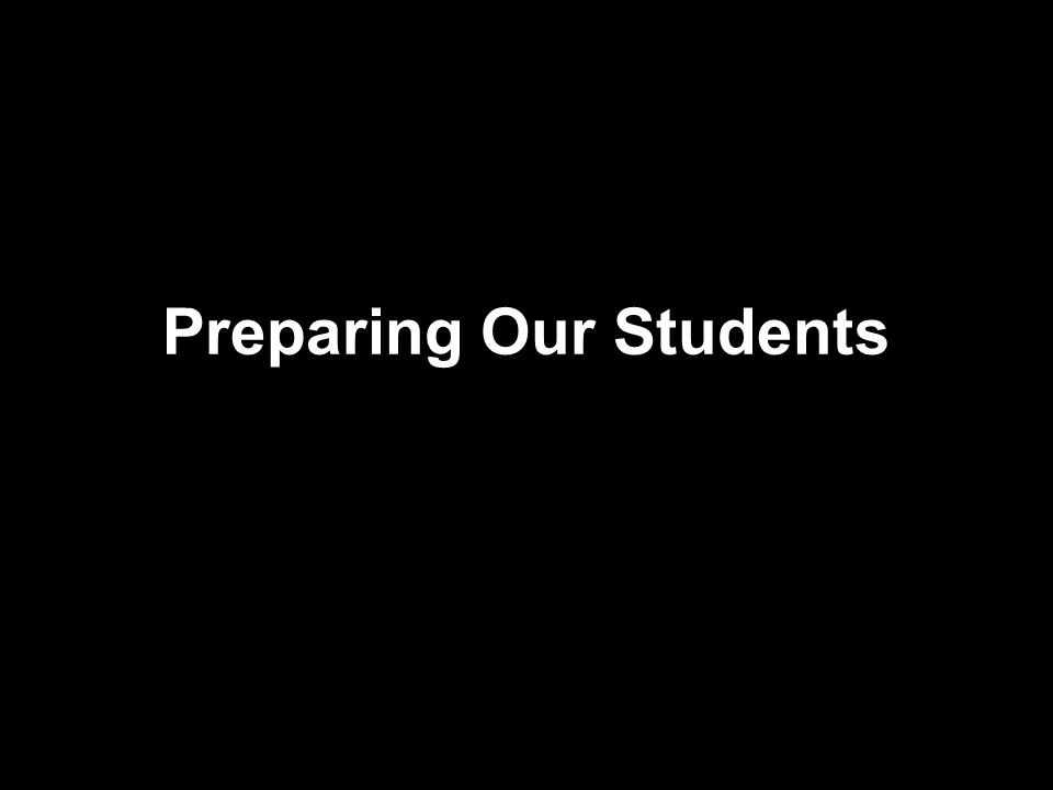 Preparing Our Students