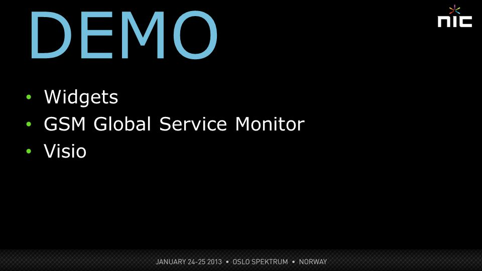 DEMO 12 Widgets GSM Global Service Monitor Visio