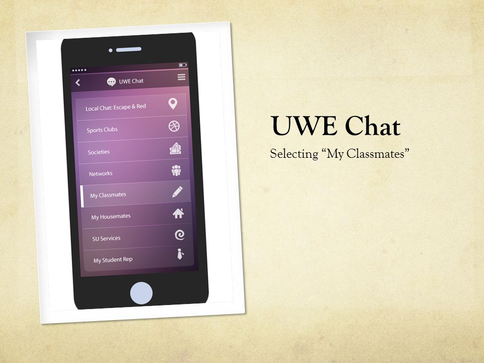 "UWE Chat Selecting ""My Classmates"""