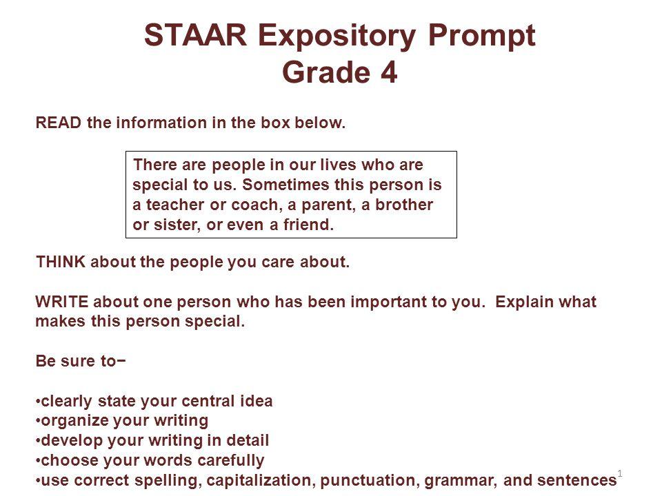 Grade 4 Expository Writing Score Point 2 Yay.We finally finished.