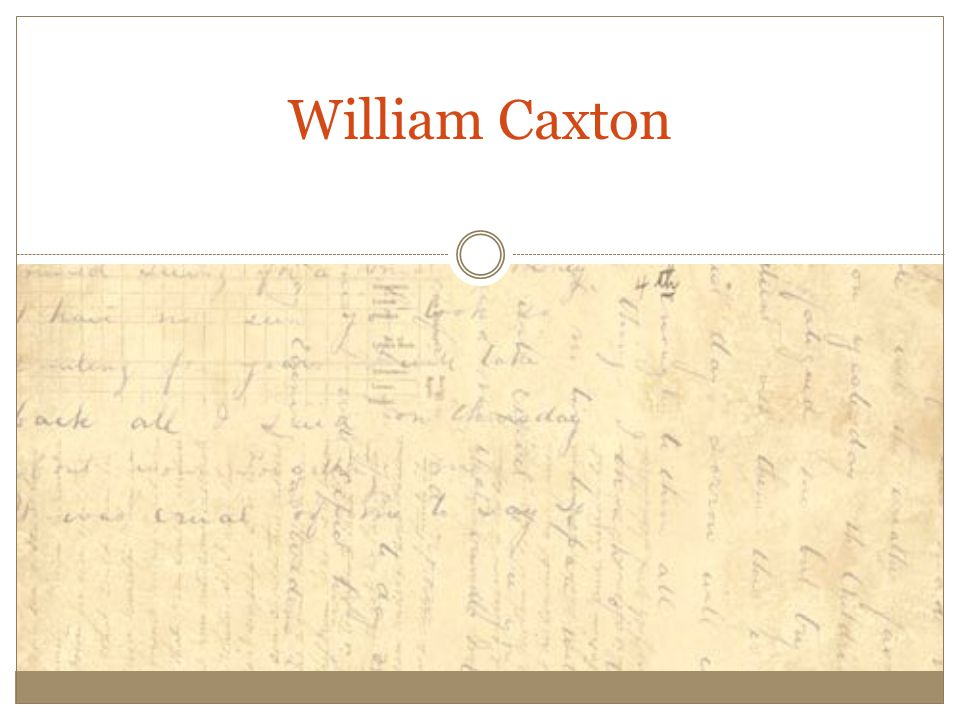 William Caxton