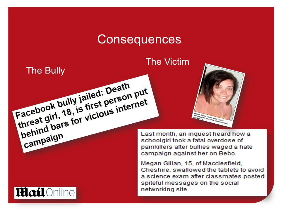 Consequences The Bully The Victim