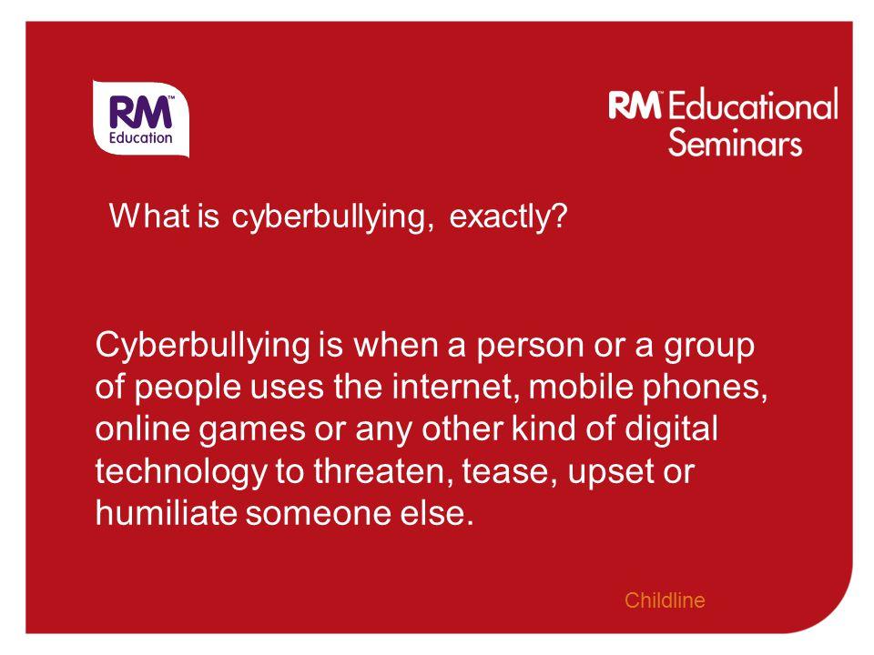 e-Safety: Cyberbullying in the virtual playground Karen Stewart kstewart@rm.com