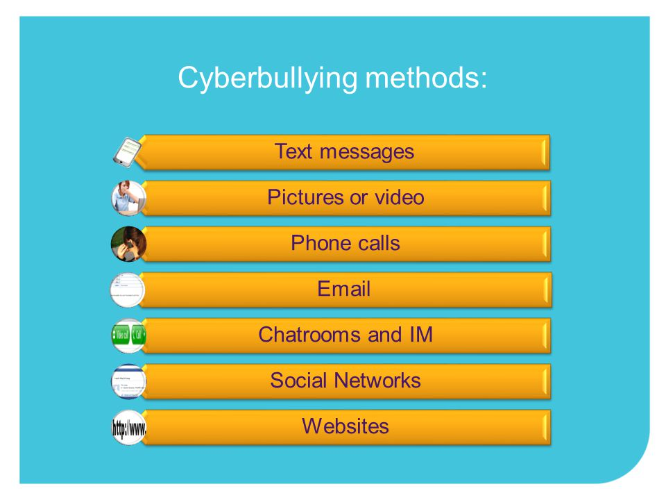 it can occur at any time of day, anywhere the audience can be large and reached instantly it can be unintentional What's different about cyberbullying?