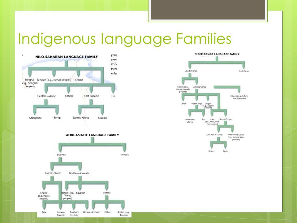 Indigenous language Families
