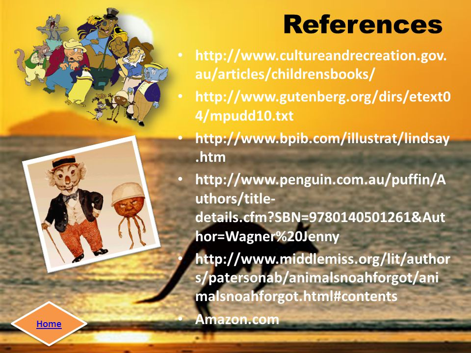References http://www.cultureandrecreation.gov.