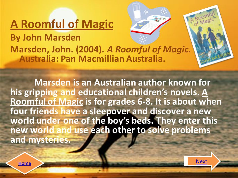 A Roomful of Magic By John Marsden Marsden, John. (2004).