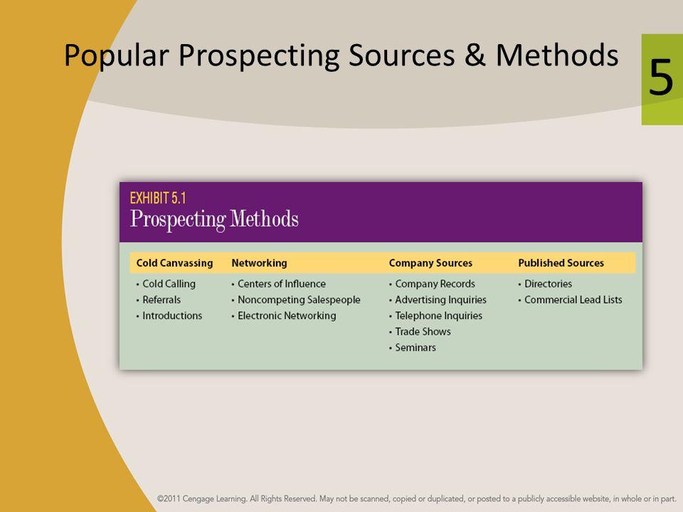 5 Popular Prospecting Sources & Methods