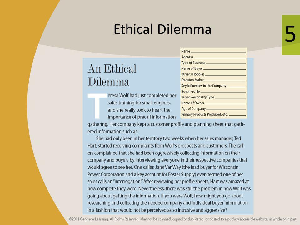 5 Ethical Dilemma