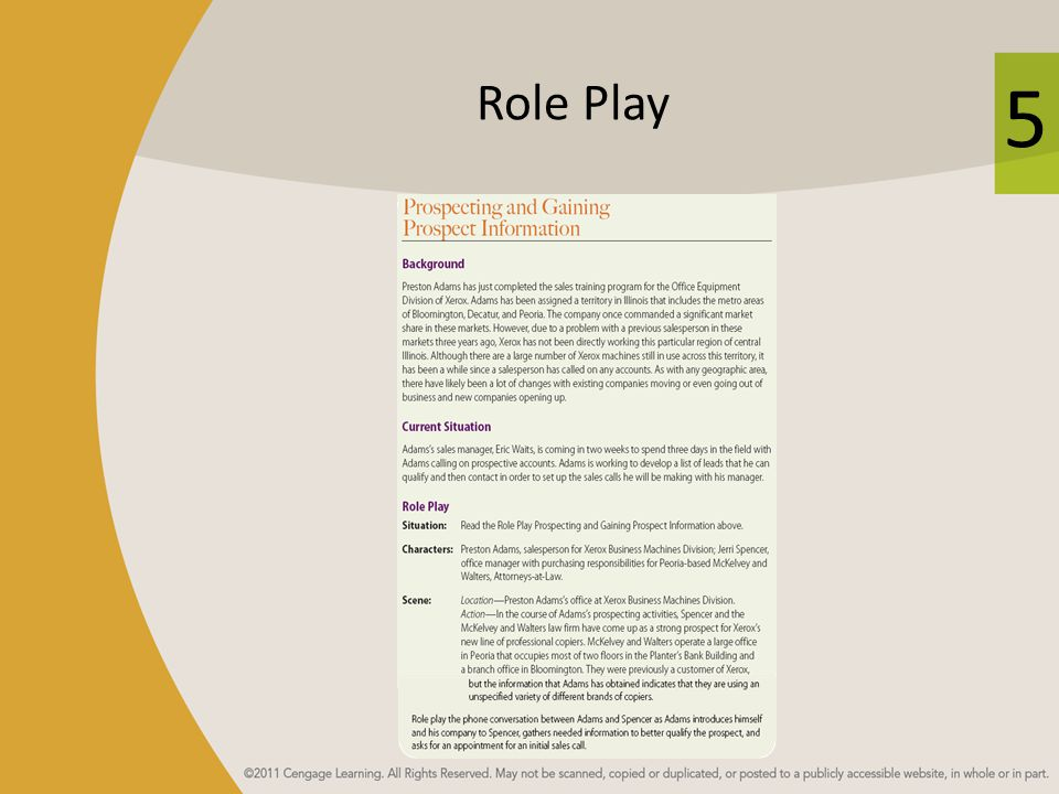 5 Role Play