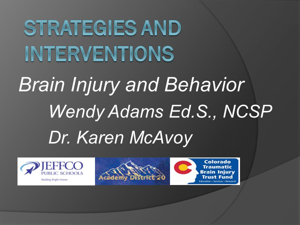 Behavioral Impairments with Traumatic Brain Injuries  Irritability/Agitation (overstimulation)  Frustration  Aggressive Behavior Anger Outbursts Short Temper  Apathy  Withdrawal