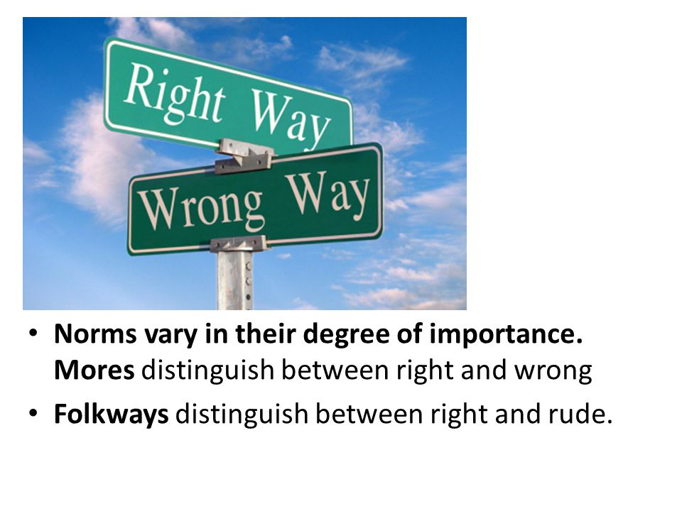 Norms are defined as rules that guide behavior.